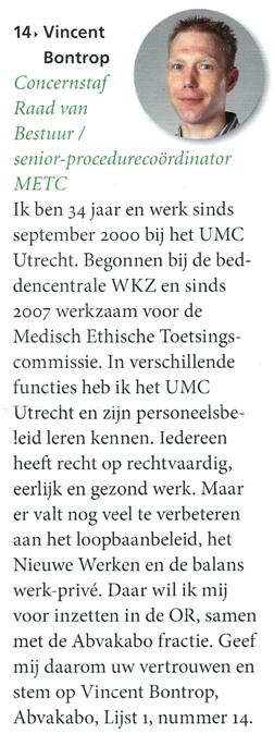 OR verkiezingen UMC Utrecht 2012
